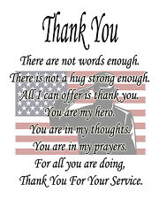 """Thank You  10"""" x 14"""" Printed COTTON Fabric Quilt Block Applique"""