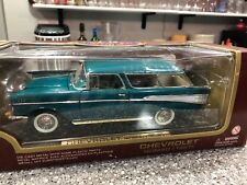 1:18 Diecast 1957 Chevrolet NOMAD Road Legends Yat Ming Turquois  WhiteW/Box