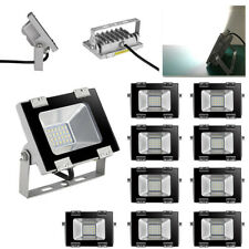 10 x 20W LED Flood Light Security Outdoor Waterproof IP65 Garden Cool White Lamp