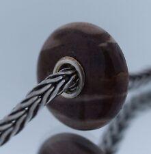 New Authentic Trollbeads Red Mud Jasper Glass Charm Bead two tone