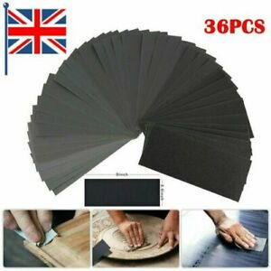 36Pcs Wet and Dry Sand Paper Mixed Assorted Grit 400-3000 Car Paint Sandpaper UK