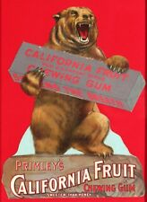 1910 Primley's California Fruit Chewing Gum die-cut chromolithographed cardstock