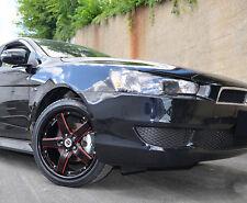4 GWG Wheels 18 inch Black Red Mill DRIFT Rims fits MITSUBISHI LANCER 2015
