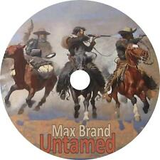 The Untamed, Max Brand Western Audiobook Fiction on 1 MP3 CD Free Shipping