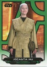 Star Wars Galactic Files Reborn Green Parallel Base Card AOTC-13 Jocasta Nu