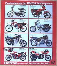 Altes Blechschild Oldtimer Motorrad Honda Reihe Reklame Werbung gebraucht used
