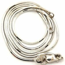 """14k white gold 16.5"""" 0.9mm octagonal snake chain necklace findings as is 3.90 gr"""