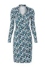 NWT Diane Von Furstenberg New Jeanne 'Quartata Peacock' Silk Wrap Dress 14 $398