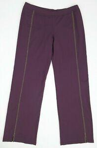 Women's Prana Yoga Pants Eggplant Purple / Sage Green Size MEDIUM
