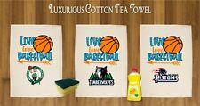 LUXURIOUS TEA TOWEL 100% COTTON AMERICAN BASKETBALL TEAMS