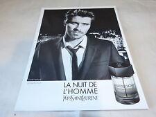 GARRETT HEDLUND - Publicité de magazine / Advert !!! PARFUM NUIT DE L'HOMME !!!
