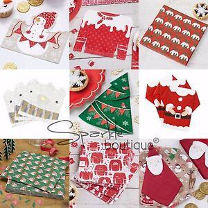 LUXURY CHRISTMAS PAPER NAPKINS -Xmas Dinner / Party / Festive Buffet -Serviettes