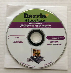 Dazzle Hi-Speed USB Reader Installation CD For Mac Or Windows*CD Only* Free Ship