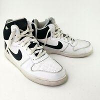 Nike Size 11 Men High Top Old School 2016 Tennis Sneaker Shoes Black White