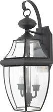 Quoizel 2 Light Newbury Outdoor Wall Lantern, Black - NY8317K NEW 20% Off Retail
