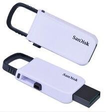 SanDisk SDCZ59-016G Cruzer U Series 16GB USB 2.0 Flash Drive White One Piece