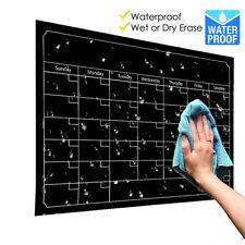 Dry Erase Board Blackboard Month Magnetic Calendar Chalkboard Wall Sticker New