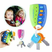 Car Key Toy Remote Pretend Voices Musical Kids Play Toys Baby Smart Cartoon