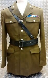 Genuine Military Army Issue Officers Sam Browne Belt Leather Black - Assorted