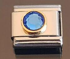September Birthstone Italian Charm Link Bracelet Charms