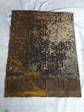 "1pc 16"" x 12"" Piece Antique Ceiling Tin Vintage Reclaimed Salvage Art Craft"