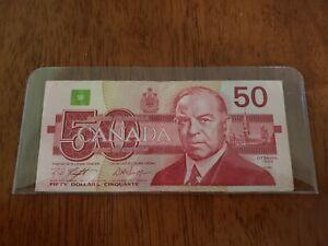 BC-59d 1988 $50 FIFTY DOLLARS BANK OF CANADA BANKNOTE VF