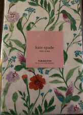Kate Spade Hummingbird Floral Tablecloth Multicolor 100% Cotton Round/NWT