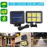 COB 120LED Solar Powered Motion Sensor Wall Light Outdoor Waterproof Garden Lamp