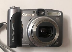 Canon Metallic Gray PowerShot A710 IS 7.1MP Digital Camera w/Accessories  Tested