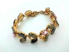 Authentic iosselliani Gold, Black, Multi Hardware, Rhinestones Bracelet