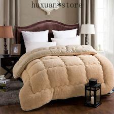 Warm Wool Quilt Comforter Duvet Blanket Lamb Down Filling Single Double Size Hot