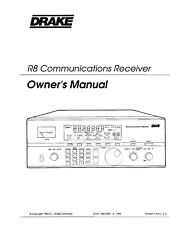 Drake R8 Communications Receiver Owners Instruction Manual