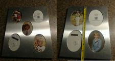 Set 2 Vintage 1970s Photo Collage Picture Frame Metal