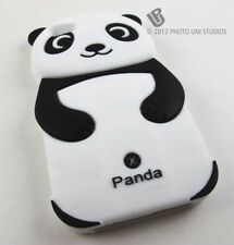 BLACK PANDA BEAR SOFT GEL RUBBER SKIN CASE COVER APPLE IPHONE 5 5S SE