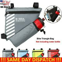Bicycle Triangle Bag Bike Frame Front Tube Bike Cycling Pouch With Bottle Pocket