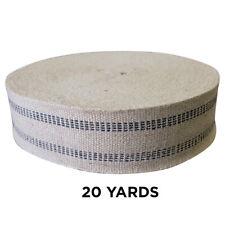 """20 yards Jute Webbing 3 1/2"""" Wide Upholstery Webbing / Re-webbing / Heavy Duty"""