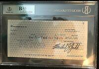 "CHARO CUGAT & XAVIER CUGAT SIGNED INSANELY RARE 1970 ""CHARO CUGAT"" CHECK W/BAS!!"