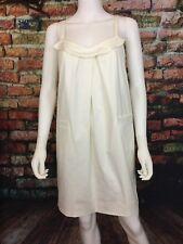 LAVENDER LABEL Vera Wang sz 4 / 36 sleeveless ruffle swing dress w pockets