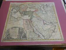 100% ORIGINAL LARGE IMPERIUM TURCICUM ARABIA MAP BY HOMANN C1737 COLOUR