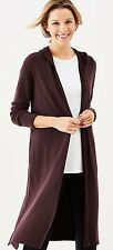 NWT$99 -  J. Jill - XL(18/20) - GREAT PURE JILL LUXE TENCEL LONG HOODIE,DARK FiG
