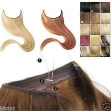 Hidden Halo Remy Wire in Invisible Wire 100% Human Hair Extensions Full Head