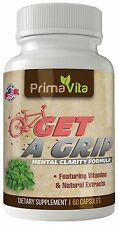 GET A GRIP BrainBooster for Natural Mental Clarity~ Focus & Memory Support