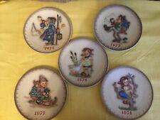 Set of (9) Goebel M. I. Hummel Annual Plates 1972-1980 for hanging