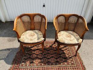 2 Chippendale Möbel Sessel Stuhl Geflechtstuhl  Armlehnenstühle