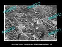 OLD LARGE HISTORIC PHOTO AERIAL VIEW SOHO BRIDGE BIRMINGHAM ENGLAND c1940