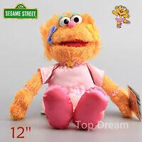 New Sesame Street Plush Zoe Cuddly Girl Toy Soft Stuffed Doll 12'' Kids Gift