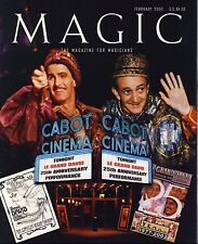 Le Grand David 25th Anniv Cabot Cinema Magic Magazine for Magicians Feb 2002