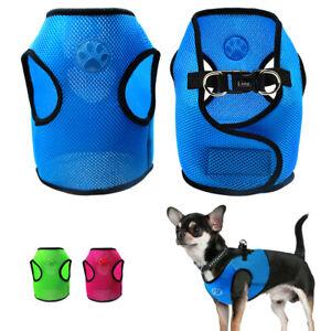High Quality Mesh Dog Harness Small Pet Vest Walking Jacket  Red Blue Pink Black