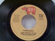 """JOHN TRAVOLTA / OLIVIA NEWTON JOHN """"SUMMER NIGHTS"""" 45"""