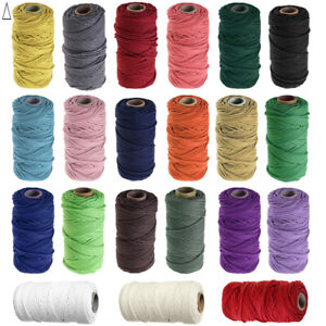 8 Strand Natural Cotton Twisted Cord Rope for Plant Hangers Waistband Drawstring